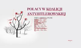 Polacy W Koalicji Antyhitlerowskiej