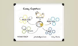 White Board Prezumé by Casey Capshaw