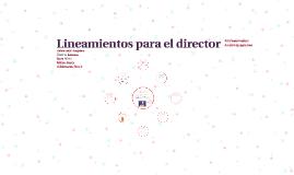Copy of Lineamientos para el director
