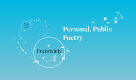 Personal, Public Poetry