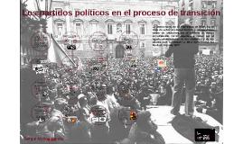 Los partidos políticos en el proceso de transición