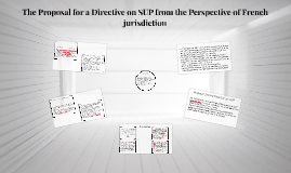 The Proposal for a Directive on SUP from the Perspective of