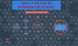 WHAT IF WE HAD AN EMERGENCY AT SCHOOL?