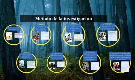 metodo de la investigacion