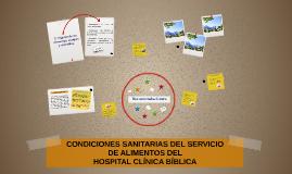 CONDICIONES SANITARIAS DEL SERVICIO DE ALIMENTOS DEL