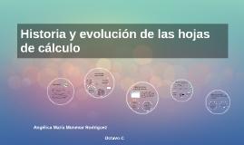 Copy of Historia y evolución de las hojas de cálculo by Lina Vasquez ...