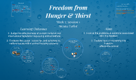 Freedom from Hunger & Thirst