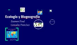 Ecología y Biogeografía