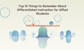 Top 10 Things to Remember About Differentiated Instruction f