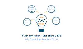 Culinary Math - Chapters 7 & 8