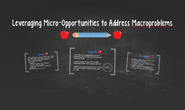Leveraging Micro-Opportunities to Address Macroproblems