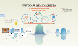 ENFOQUE BEHAVIORISTA