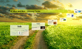 Copy of Copy of Of Mice and Men ~ Literary Terms