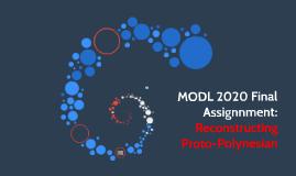 MODL 2020 Final Assignnment: Polynesian