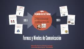 Formas y Niveles de Comunicación