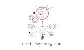 Unit 1 - Psychology