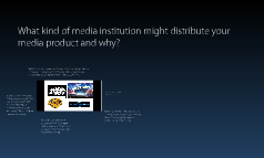 Question 3- What kind of media institution might distribute your media product and why?