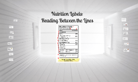 Copy of Reading Nutrition Labels