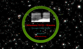 WMV 1 Allusions 13:12 -- Dreams.
