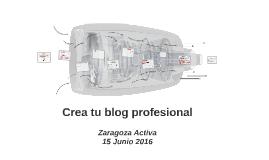 Crea tu blog profesional 2016