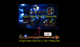Mr King's Technical Resume