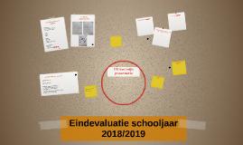 Eindevaluatie schooljaar 2018/2019