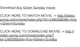 Any given sunday   movie fanart   fanart. Tv.