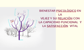 BIENESTAR psicológico EN LA