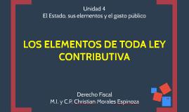 Copy of LOS ELEMENTOS DE TODA LEY CONTRIBUTIVA