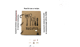 Copy of Recipe Parts and Kitchen Math