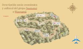 Descripción socio-económica y cultural del grupo Noanama o W