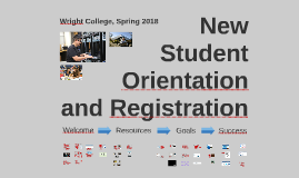 Wright College New Student Orientation and Registration, Spring 2018 12-Week