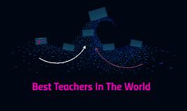 Best Teachers In The World