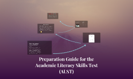 Copy of Preparation for the ALST