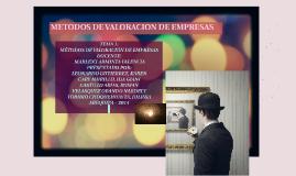 Copy of METODOS DE VALORACION D E EMPRESAS