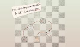 Proceso de implementación de HEILA en otras UTs