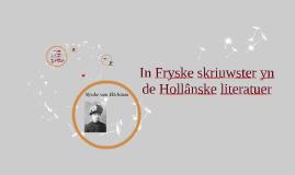 In Fryske skriuwster yn de Hollânske literatuer