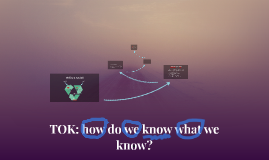 TOK: how do we know what we know?