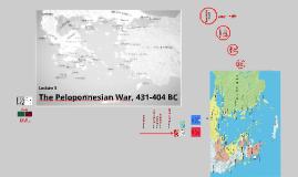 The Peloponnesian War 2016/17