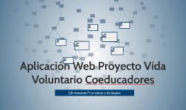 Aplicación Web Proyecto Vida Voluntario Coeducadores