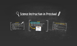 Science in Preschool