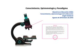 Conocimiento, Epistemología, Paradigma