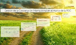 Gestión de la Cooperación en el marco de la RSC