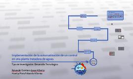 Implementación de la automatización de un control en una pla