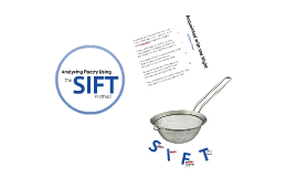 Analyzing Poetry with SIFT (Robert Frost)