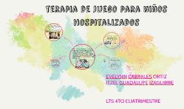 terapia de juego para niños hospitalizados
