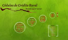 Cédula de Crédito Rural