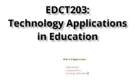 Introduction to EDCT203-Technology Applications in Education