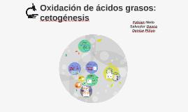 Oxidación de ácidos grasos