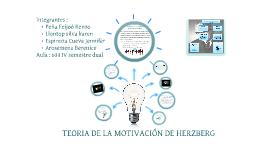 TEORIA DE MOTIVACION DE HERZBERG